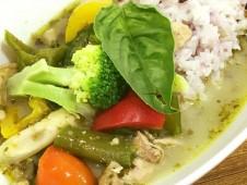 いちばのランチセット いちばのたっぷり野菜のグリーンカレー