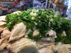地域と畑の見えるいちばのランチ  鶏肉のレモン&グリーンマスタード和え