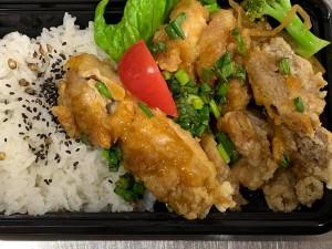 月間ご当地食堂 日替りはいちばのねぎだく油淋鶏
