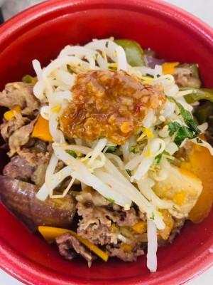 月間ご当地食堂 日替りはいちばの5種野菜のプルコギ丼