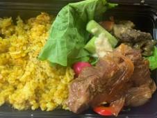 月間ご当地食堂 日替りは一晩特製ダレに漬けた厚切り肉の生姜焼き