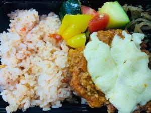 月間ご当地食堂  日替わりは糸魚川越の丸茄子 サルサソースチーズがけ