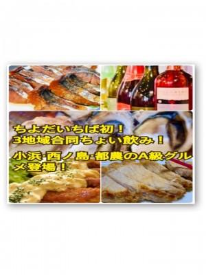 〈9/20開催〉ちよだいちば初!小浜市・西ノ島町・都農町トリプルちょい飲