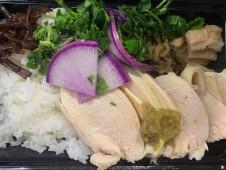 月間ご当地食堂 日替りは蒸し鶏の 津和野柚子ごしょうがけ