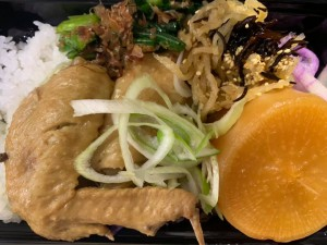月間ご当地食堂 日替りはるりびたき農場さんの有機 冬大根と柔らかな鷄の台湾屋台風甘辛煮込み