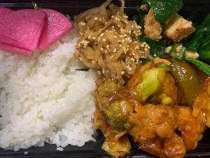 月間ご当地食堂 日替りは鶏の唐揚げ 酢豚風