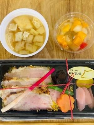 月間ご当地食堂 日替りは加須市銘柄豚 香り豚の炙り豚トロ重