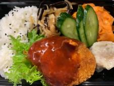 月間ご当地食堂 日替りは加須香り豚メンチカツ&加須香り豚しゅうまい