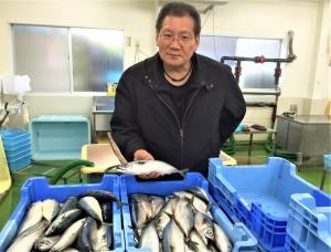 【マルイ水産】平戸市生月町で100年以上続く水産加工品メーカー。らーめんに使われている炭火焼焼あごなど、自家製にこだわってつくっておられます。写真は井元宏三社長。