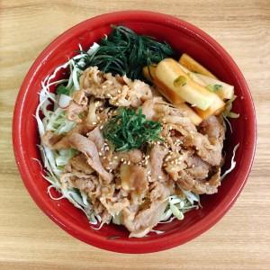 ご当地産直ランチ 日替りは特製ダレに漬け込んだ豚丼