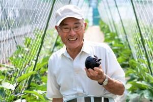 越の丸茄子の第一人者 橋立春雄さん