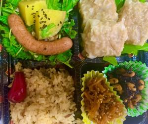 いちばのご当地ランチ ご当地グルメ弁当は茨城県取手市のブランド豚バナナポークの肉しゅうまい