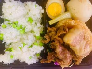 いちばのご当地ランチ ご当地グルメ弁当は茨城県取手市のブランド豚バナナポークのポークソテー