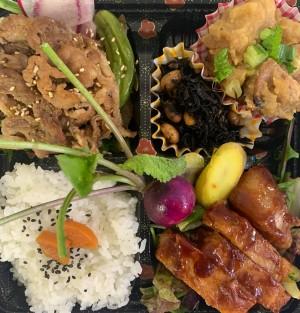 いちばのご当地ランチ ご当地グルメ弁当は茨城県取手市希少ブランド豚 ポークソテー&生姜焼き
