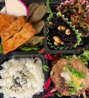 いちばのご当地ランチ ご当地グルメ弁当は茨城県取手市希少ブランド豚 バナナポークのハンバーグ&ポークソテー