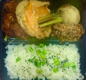 唐揚げ&季節の産直野菜〜バターナッツかぼちゃ天ぷら、有機かぶグリルなど