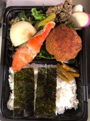 選べるご当地ランチ弁当 焼鮭&三陸ホタテフライ