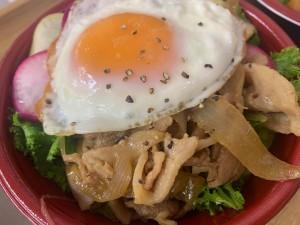 下関市関門ポークの焼肉丼