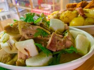 チキンと山芋、焼きネギの柚子塩風味
