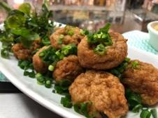 主菜が選べるいちばのご当地弁当 屋久島飛び魚すりみの揚げボール他