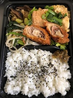 原木椎茸肉巻きフライ/厚揚げの炒り煮