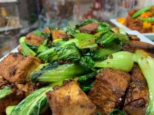 豆腐と平戸青梗菜のXO醤炒め