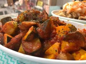 国東 上田さんの小茄子、ズッキーニ のトマト煮込
